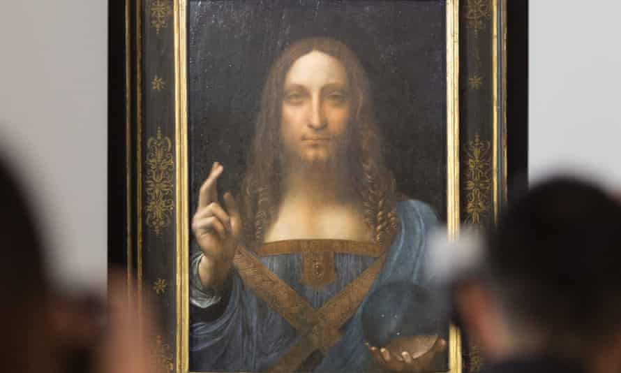 Another bauble for a billionaire … Salvator Mundi at Christie's in 2017.