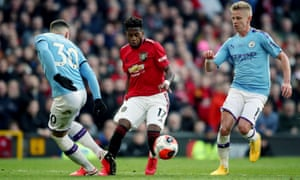 Manchester United repeatedly attacked the gap between Nicolás Otamendi and Oleksandr Zinchenko, a route that almost brought a first-half penalty.