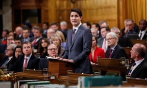 Trudeau delivers an apology speech in Ottawa, Ontario on Tuesday.