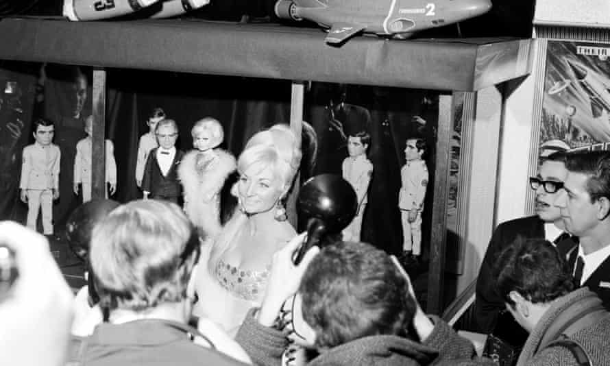 Sylvia Anderson in 1966 at the premiere of the feature film Thunderbirds Are Go, for which she was producer.