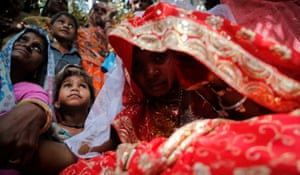 Child bride Krishna,11, at a marriage ceremony at her husband's home in a village near Kota, in the Indian state of Rajasthan