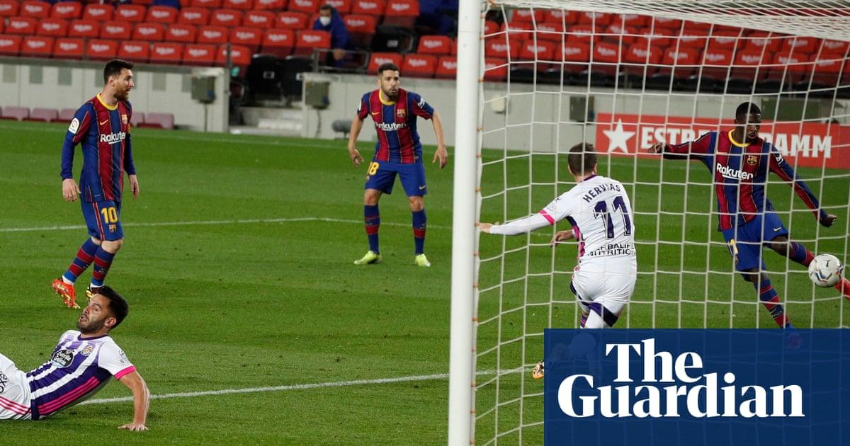 Dembélé strikes at death to take Barça past Real Valladolid before El Clásico