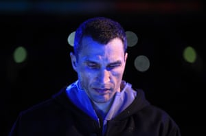 Wladimir Klitschko makes his way to the ring, game face on.