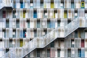 Colorful apartment complex