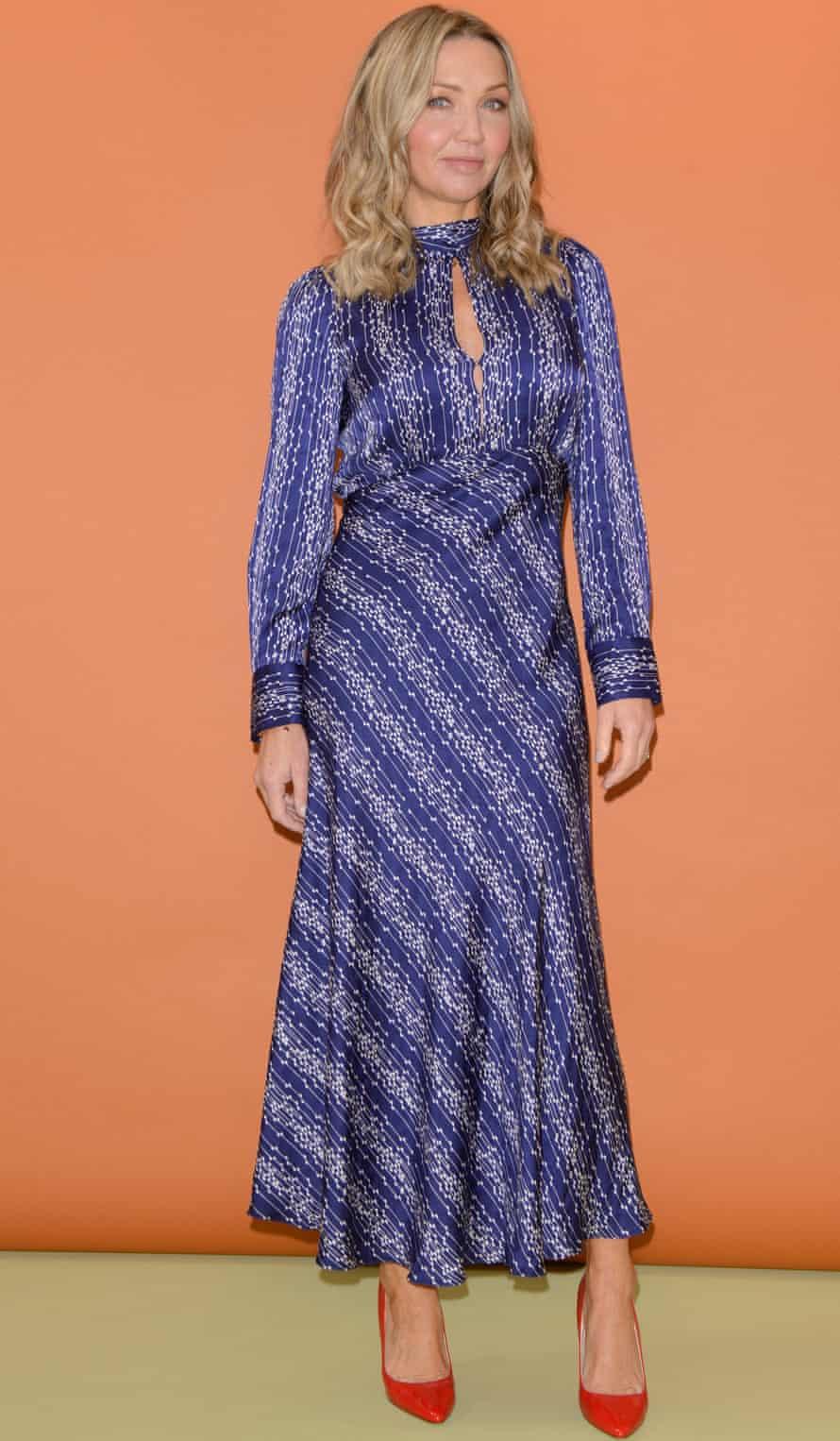 Jess Cartner-Morley in high waist dress