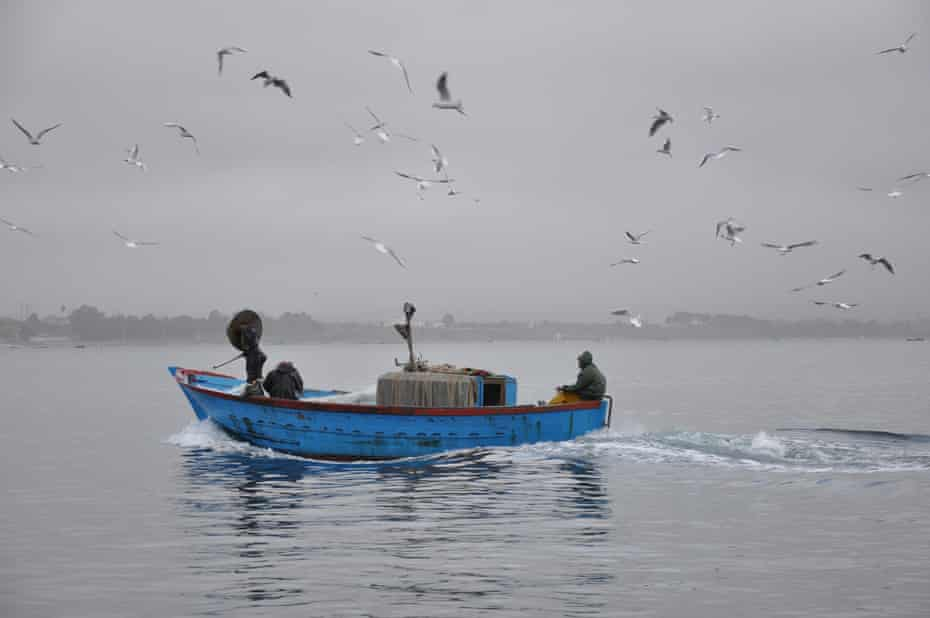 A fisherman on the Mar Piccolo.