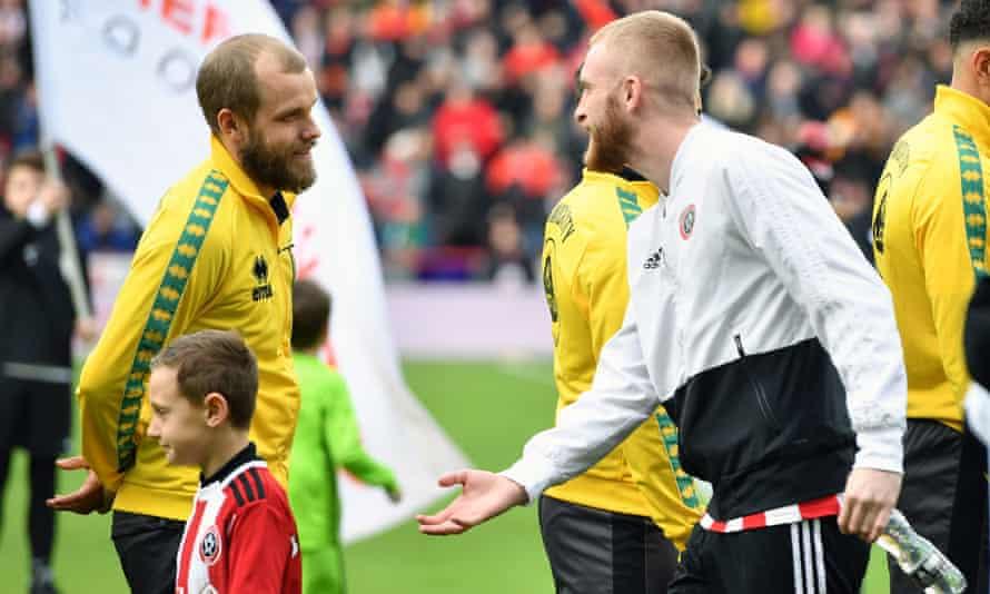Norwich City's Teemu Pukki and Sheffield United's Oli McBurnie