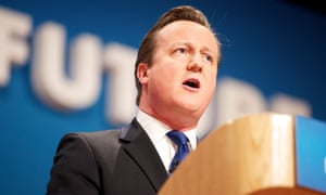 David Cameron at podium