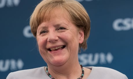 Angela Merkel shows how the leader of the free world should act
