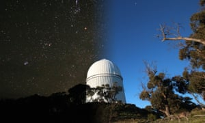 Day to night at Siding Spring Observatory, Coonabarabran
