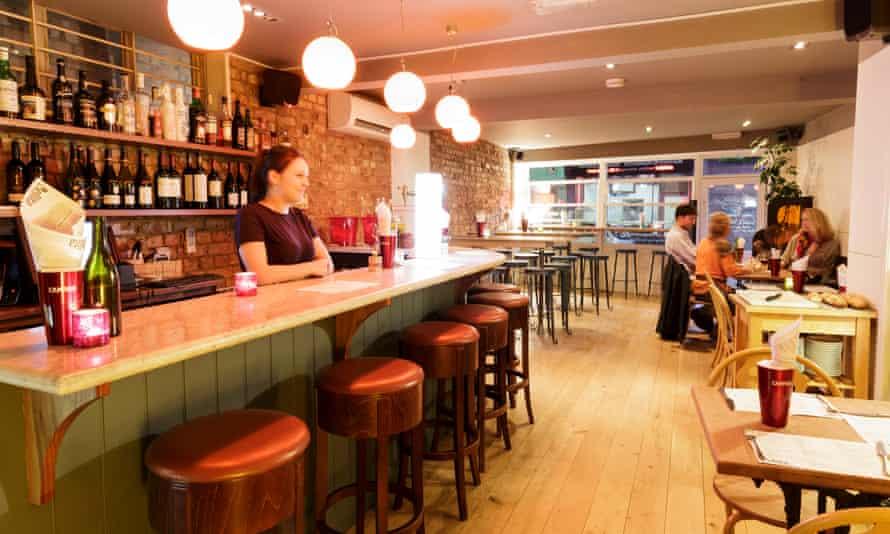 Interior of Bellita Restaurant, Cotham, Bristol.