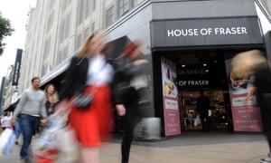 House of Fraser on Oxford Street