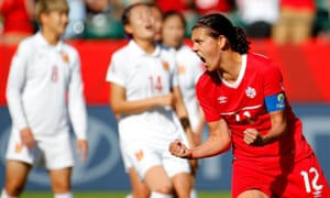 Christine Sinclair is one of the all-time top scorers in international football