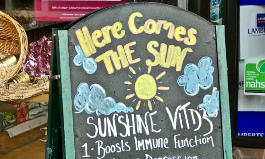 A sign outside a chemist in Dorset