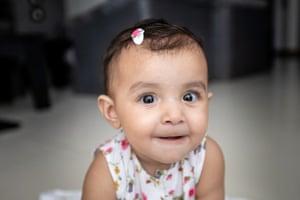 Baby Sofia in Karachi, Pakistan
