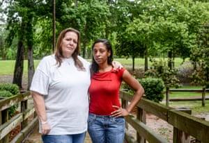 Thomasa Massey and Evangela Hentz are close friends in Brandon, Mississippi.