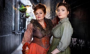 Valkyrie stuff … Susan Bullock, left, as Liz Stride and Natalya Romaniw as Mary Jane Kelly in Iain Bell's Jack the Ripper: The Women of Whitechapel