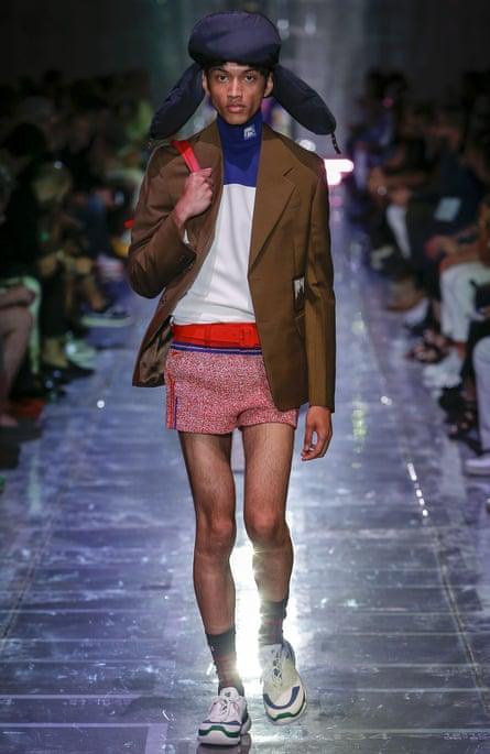 Prada's micro shorts for men.