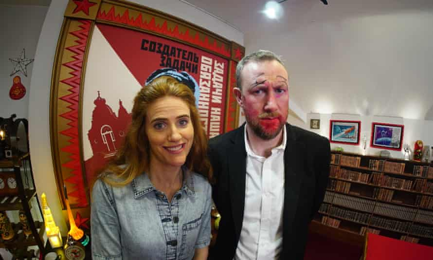 Sarah Kendall and Alex Horne in Taskmaster.