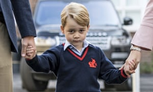 Prince George arrives for his first day of school, September 2017