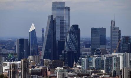 London's man-made skyline