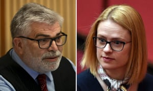Labor senator Kim Carr and his Liberal counterpart Amanda Stoker
