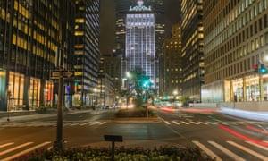 Park Avenue, Manhattan, at night