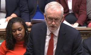 Jeremy Corbyn during prime minister's questions