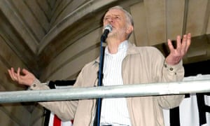 Jeremy Corbyn gives a speech at a London demonstration against Trident in April.