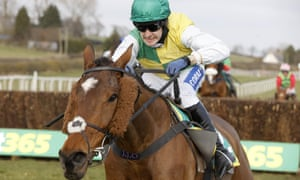 Cloth Cap and Tom Scudamore pictured winning the bet365 Premier Chase at Kelso.