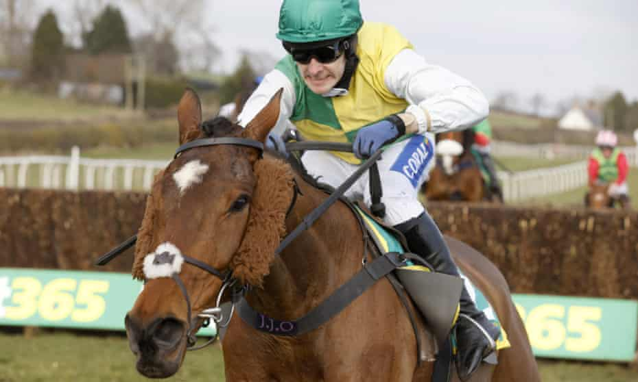 Cloth Cap is ridden to victory in The Bet365 Premier Chase in Kelso, Scotland in March 2021.