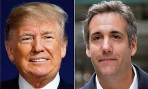 Donald Trump and his former attorney, Michael Cohen. Cohen's memoir about Trump will be released on Tuesday.