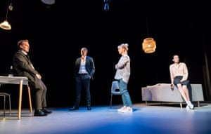 BELOW Adam James, Stephen Campbell Moore, Claudie Blakley and Sian Clifford in Consent.