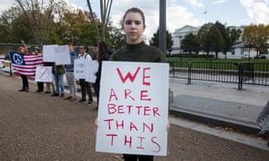 white house trump protest