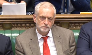 Jeremy Corbyn at his first PMQs facing Theresa May in July.