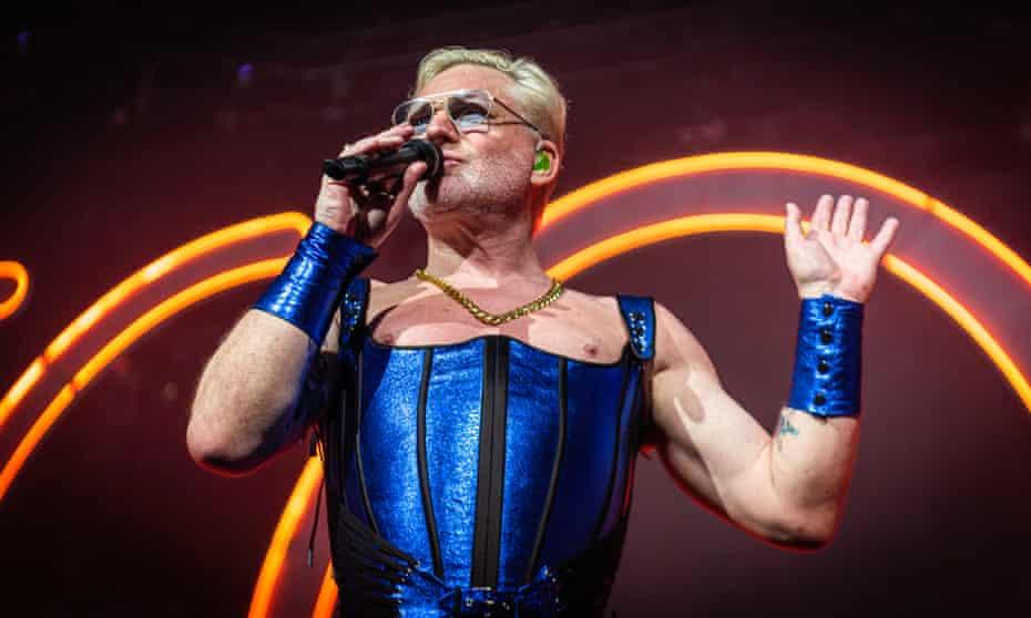 'Wonder Woman crossed with Lindsay Wagner Bionic Woman She-Ra slash Powerpuff Girl' … Erasure's Andy Bell at the SEC Armadillo, Glasgow.