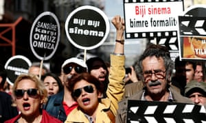 Protests against film censorship in Turkey, 2015.