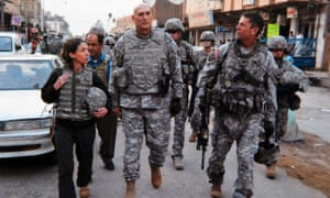 Emma Sky with the US army's General Odierno in Iraq