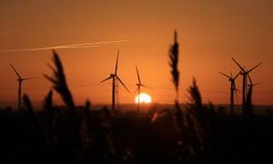 Sunset for the Green Investment Bank? Little Cheyne Court Wind Farm on the Romney Marsh in Kent.