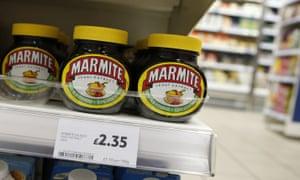 Marmite in a Tesco store