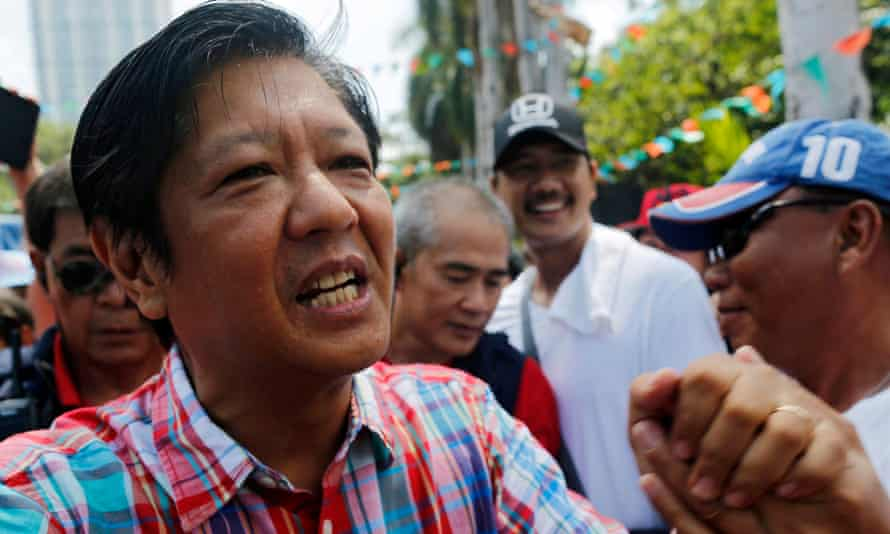 Ferdinand Marcos Junior meets workers during Labor Day celebrations in Manila.