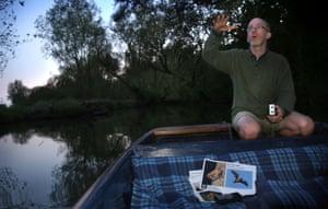 Bat expert Iain Webb from Cambridgeshire Wildlife Trust.