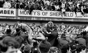 The Hillsborough football stadium disaster on 15 April 1989.