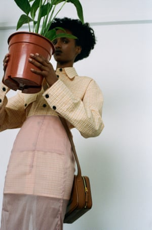 Shirt, £675, top, £595, skirt, £895, and bag, £995, by Victoria Beckham (victoriabeckham.com)