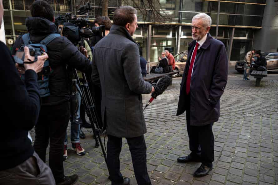 Labour leader Jeremy Corbyn arrives for talks with the European commission.