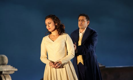 Isabel Leonard and Juan Diego Flórez in Werther at the Royal Opera House, London.
