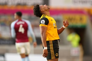 Wolves' Adama Traore reacts after a missed chance.