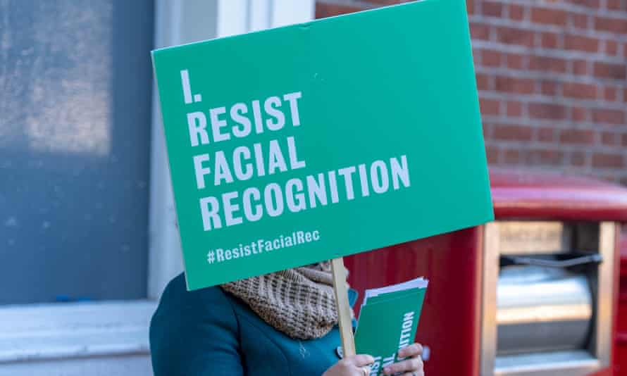 A protest against the Met's trials of facial recognition technology, which showed an 81% error rate