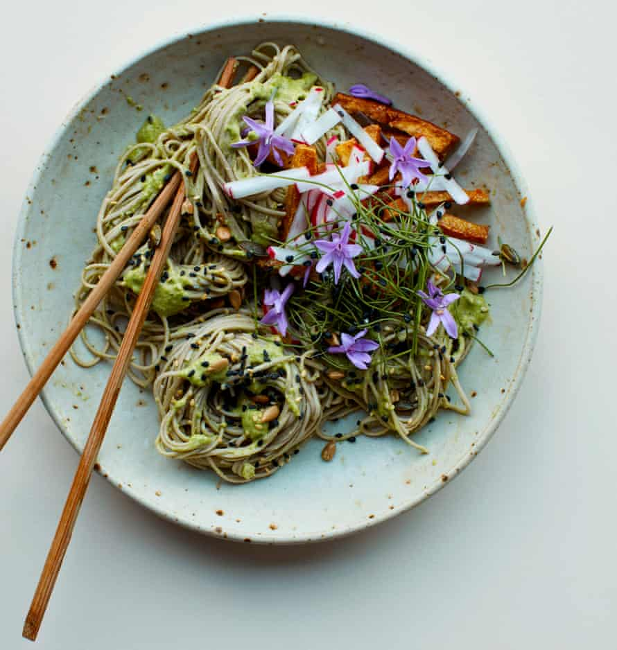 A zing thing: Anna Jones's lime and double ginger weeknight soba.