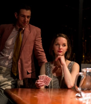 Host with the most … Oliver Tilney as Jay Gatsby and Amie Burns Walker as Daisy Buchanan.